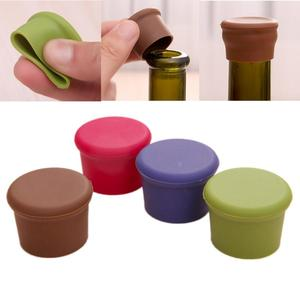 1pcs New Silicone Wine Cover Food Grade Beverage Beer Cover Home Kitchen Bar Tool Stopper Multicolor Silicone Bottle Stopper