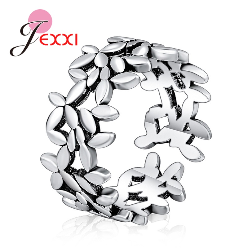 New 2020 Arrivals 925 Sterling Silver Leaves Open Rings For Women Adjustable Wedding Rings Knuckle Finger Jewelry Bijoux