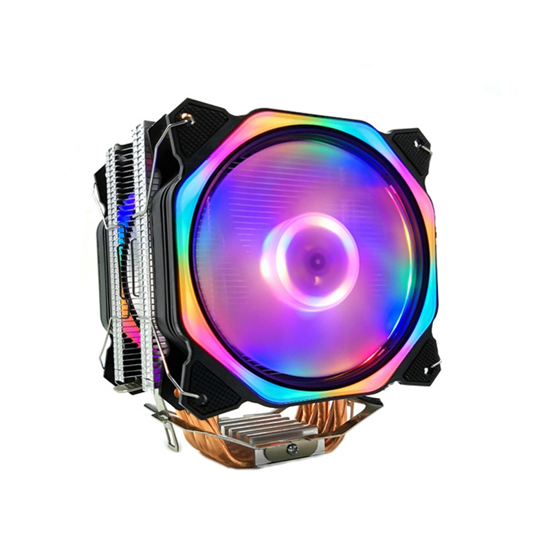 12cm CPU Cooler Dual LED Fan 6 Heat Pipe 3Pin CPU Fan Cpu Heatsink For Intel 775/1150/1155/1156/1366 For AMD All