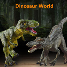 Realistic Dinosaur Model Toy Solid Soft Rubber Comfortable Simulation Toy For Children Gift Tyrannosaurus Rex Doll Velociraptor