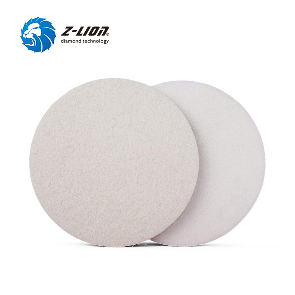 Z-LION 1/2/3/4/5/6/7 Inch Wool Polishing Pad Car Buffing Disc 5mm Thickness Wet For Car Metal Glass Polishing Cleaning Waxing