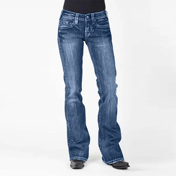2019 wysokiej talii Flare dżinsy dla mamy damskie dżinsy typu boyfriend obcisłe dżinsy rurki kobieta czarne szerokie nogawki spodnie damskie damskie Denim # J30 tanie i dobre opinie YOUYEDIAN Pełnej długości Poliester Na co dzień 1216 Powlekane Proste REGULAR light Kieszenie Przycisk fly jeans women jeans