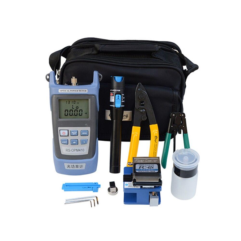 Portable Fiber Optic FTTH Tools Kits -6S Fiber Cleaver Optical Power Meter NEW