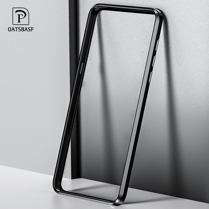 OATSBASF Push-pull design Luxury Metal Frame Shape phone Case For Xiaomi MI MIX3 Protect Back shell Phone Cover