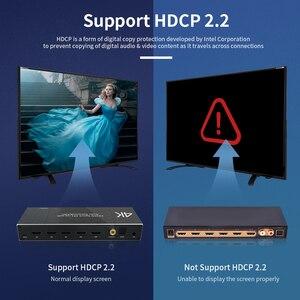 Image 5 - HDMI 2,0 Switcher 4K 60Hz 4X1 Splitter Matrix 4 IN 1 HERAUS SPDIF + 3,5mm Audio Extractor & ARC HDCP 2,2 Mit IR Fernbedienung HDMI Adapter