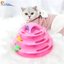 Toys Cat-Ball-Toys Amusement-Plate Intelligence Training Funny for Cats Kitten 4-Levels