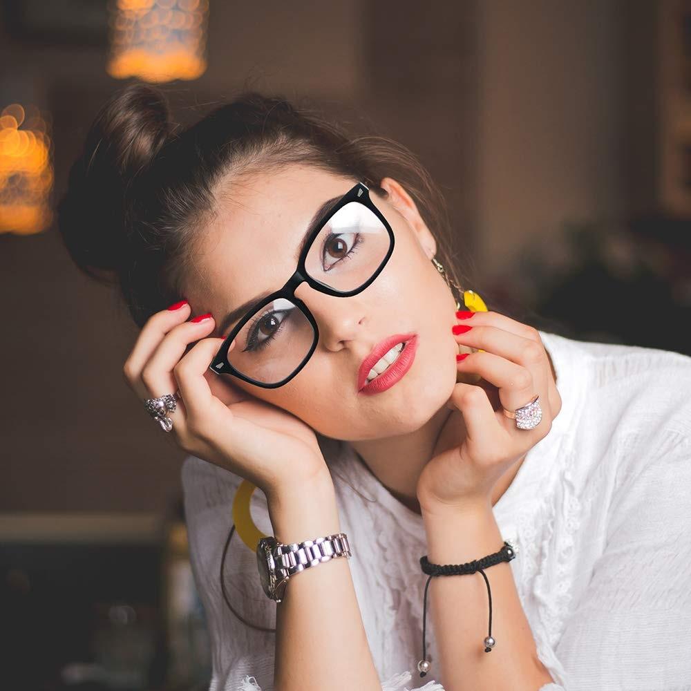 2020 Unisex Stylish Nerd Non-prescription Glasses Women Clear Lens Eyeglasses Optical Frames Fake Glasses Men