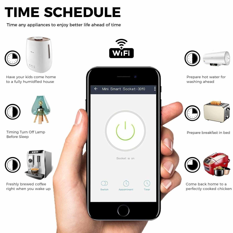 Inteligentny WiFi wtyczka zasilania wielkiej brytanii Outlet gniazdo ścienne bezprzewodowy Przełączniki elektryczne pilot zdalnego sterowania współpracuje z Alexa Google Home IFTTT 2 paczka