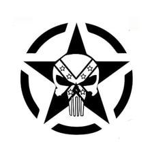 DAWASAKA Custom Car Stickers Skull Sunscreen Waterproof Vinyl Decals Car Stickers Motorcycle Car-styling Accessories 15cmx15cm 6zstickers sugar skulls reflective stickers decals waterproof sunscreen motogp x15
