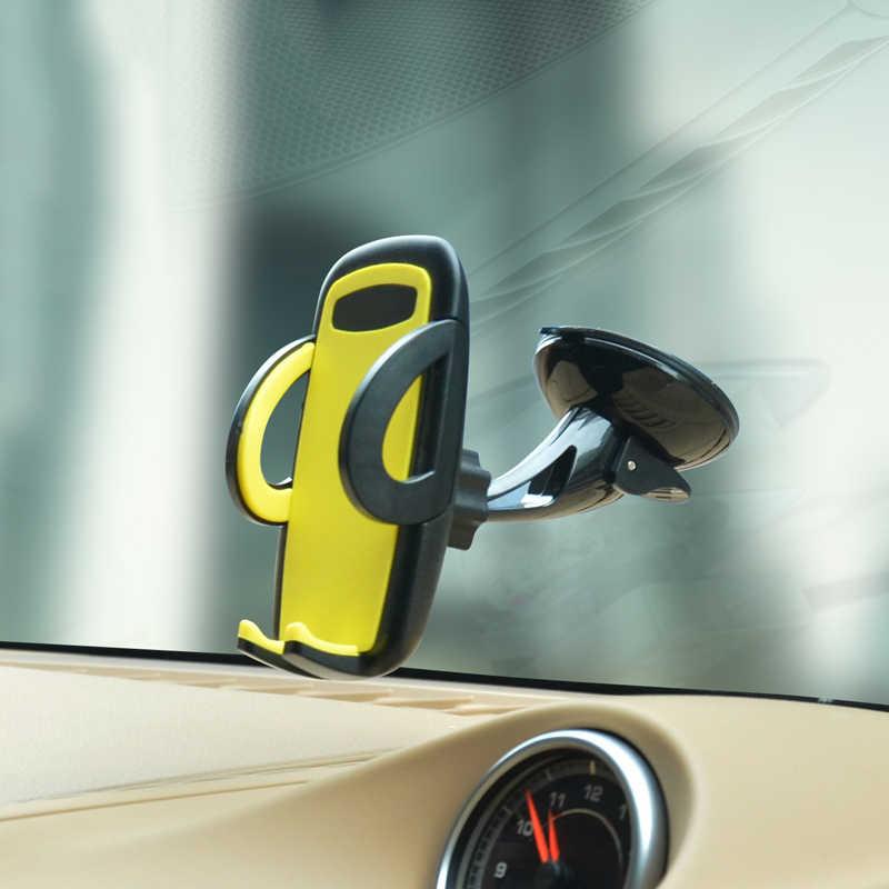 ロングアーム携帯電話車のフロントガラスマウントブラケットユニバーサル携帯電話ホルダースタンド xiaomi mi 9 iPhone 6s 7 honor 8x oneplus