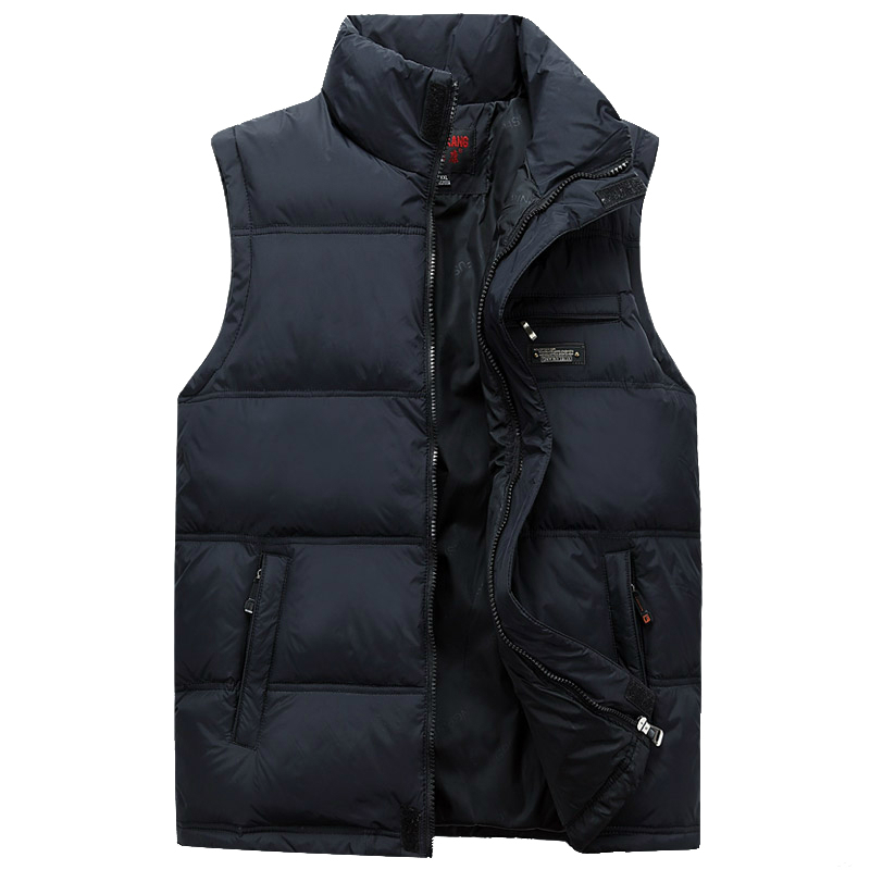 Men Winter Waistcoat Fashion Plus Size Masculine Photographer Vest Thick Duck Down Warm Sleeveless Male Jacket With Pockets 4XL