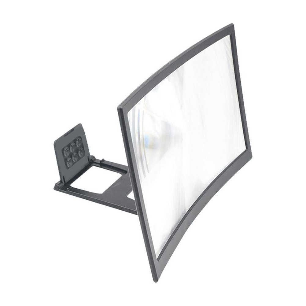 12 Inch Mobiele Telefoon Gebogen Scherm Versterker Hd 3D Video Mobiele Telefoon Vergrootglas Stand Beugel Telefoon Vouw Newable Houder