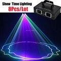 Показать время мощный 2 головы Dj ЛАЗЕР 2 линзы Полноцветный сканер Линейный луч лазер хорошее использование для дома вечерние KTV ночной клуб ...