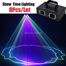 8Pcs/Lot 2 Head Dj Laser 2 Lens Full Color Scanner Line Beam Lazer Good Use For Home Party KTV Night Club Dance club dance 2 cd