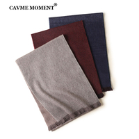 CAVME 100% Cashmere Scarf for Men Gift for Father Unisex Long Scarves Women Winter Soft Basic Scarf Double Face Birthday Present