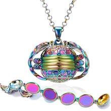 Pendentif mémoire 8 Photos médaillon flottant collier avec ailes d'ange cadre Photo Flash Album rond ouvert colliers bijoux