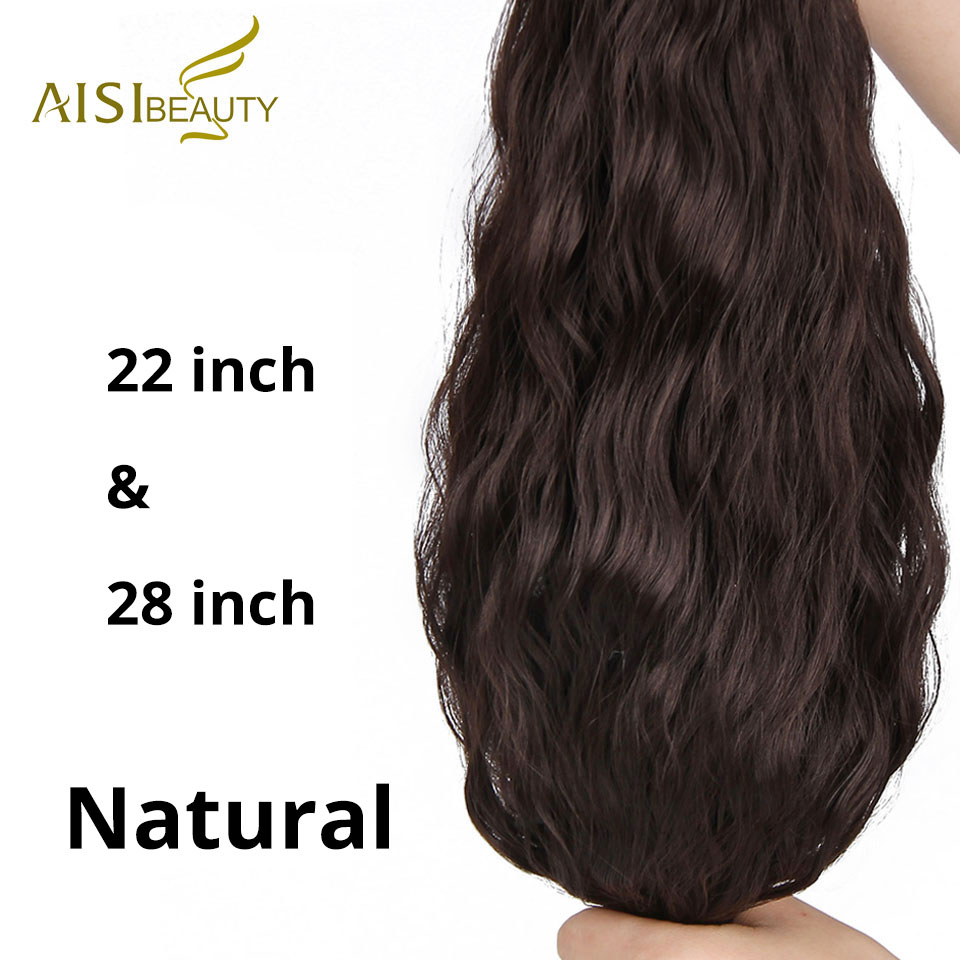 ALI shop ...  ... 32840522443 ... 4 ... AISI BEAUTY Long Clips in Hair Extension Synthetic Natural Hair Water Wave Blonde Black Brown Red 22