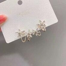 Stud Earring Flower Ear-Jewelry Crystals Gift Cubic-Zircon Brincos Female Fashion Women