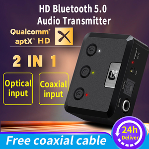 Image 1 - MR275 беспроводной bluetooth 5,0 аудио передатчик aptX HD ll оптический коаксиальный 3,5 мм Aux RCA аудио приемник адаптер двойной связи ТВ ПК