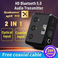 MR275 sans fil bluetooth 5.0 transmetteur audio aptX HD ll optique Coaxial 3.5mm Aux RCA adaptateur récepteur Audio double liaison TV PC
