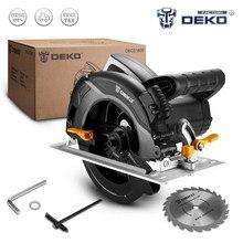 DEKO-Sierra eléctrica circular DKCS1600, herramienta portátil con ángulo de corte ajustable, 5000 rpm, hoja de carpintería, venta de fabrica