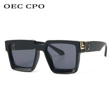 OEC CPO – lunettes de soleil rétro carrées pour hommes et femmes, de marque de luxe, à la mode, UV400, O454