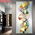 5 d Алмазная мозаика, большая Абстрактная живопись с цветными листьями для гостиной, домашний декор, алмазная живопись, вышивка, распродажа,