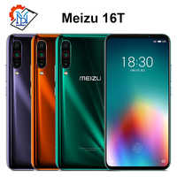 Original Meizu 16T Mobile Phone 6.5 inch 6GB RAM 128GB ROM Snapdragon 855 Octa-core Android 9.0 Triple Camera 4500mAh Samrtphone