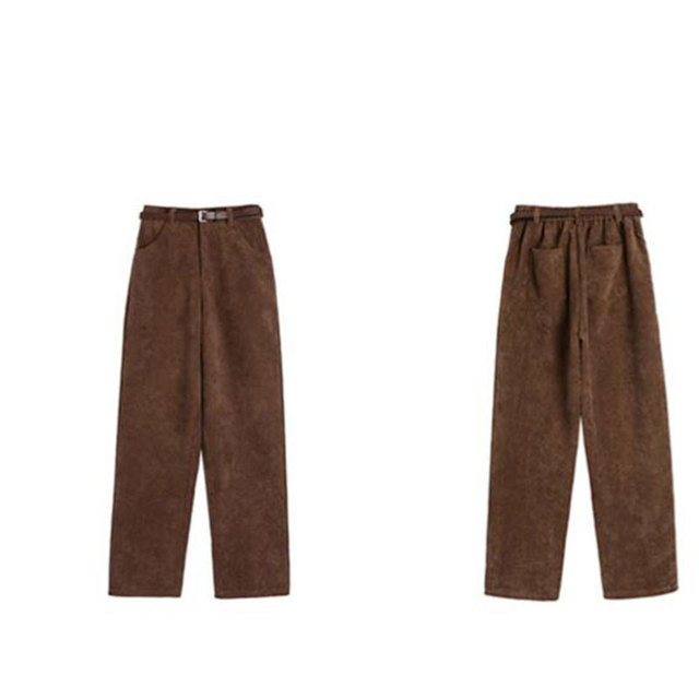 Casual Loose Corduroy Wide Leg Pants 6