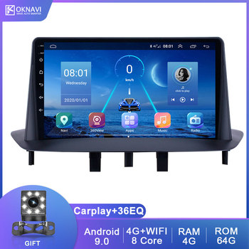 For Renault Megane 3 2008-2014 Android 9.0 Car Multimedia Player With 4G WIFI DSP Carplay Support 360 Camera 2 Din No DVD Radio image