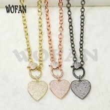 3 нити ожерелье с сердечком циркониевые подвески модное аксессуары
