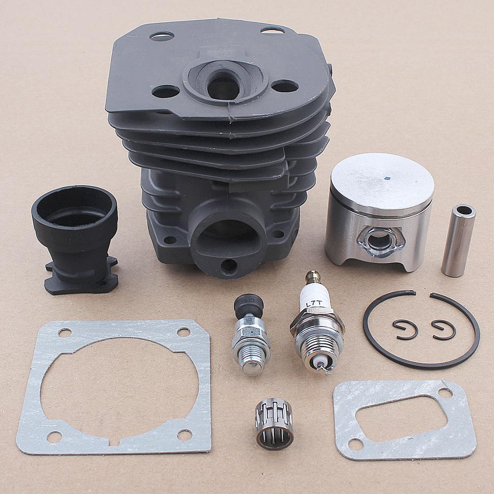 44mm Cylinder Piston Intake Boot Gasket Kit For Husqvarna 353 351 350 346 XP 340 Chainsaw 503869971 503866301 w Needle Bearing