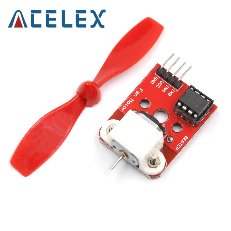 <font><b>5V</b></font> L9110 <font><b>Fan</b></font> <font><b>Motor</b></font> Module <font><b>Fan</b></font> Propeller Firefighting Robot For Arduino DIY image