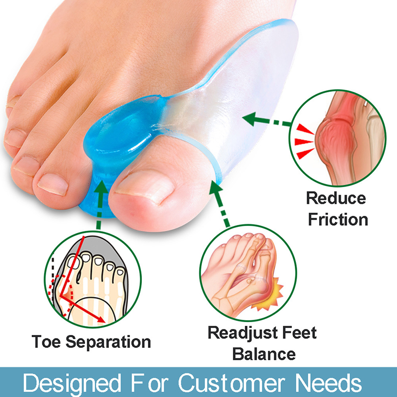 Новинка 2 шт. разделитель для большого пальца ноги кости корректор-выпрямитель стопу дуга для стопы из силиконового геля защитные накладки ...