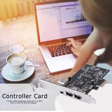 بطاقة توسيع PCI E إلى IEEE 1394 ، 3 منافذ ، قناة واحدة ، تدعم نقل البيانات ، محول وحدة تحكم DV 1x 4Pin 2x 6Pin