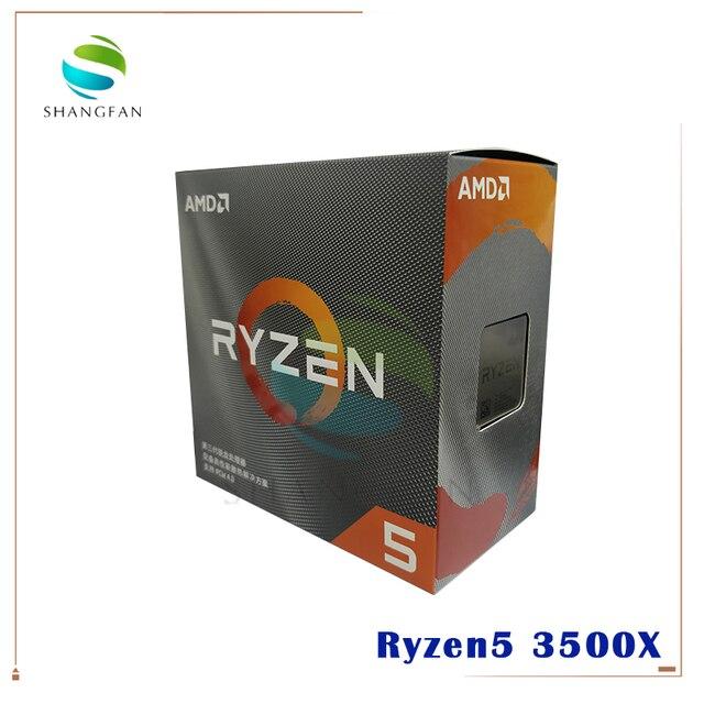 AMD Ryzen 5 3500X R5 3500X 3.6 GHz sześciordzeniowy sześciordzeniowy procesor CPU 7NM 65W L3 = 32M 100 000000158 gniazdo AM4 pochodzą z chłodnicą