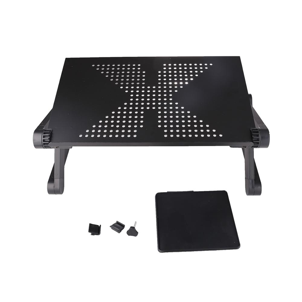 Portable Foldable Adjustable Folding Table Laptop Desk Computer Folding Cooling Computer Desk Stand Tray Stand Tray For Sofa Bed