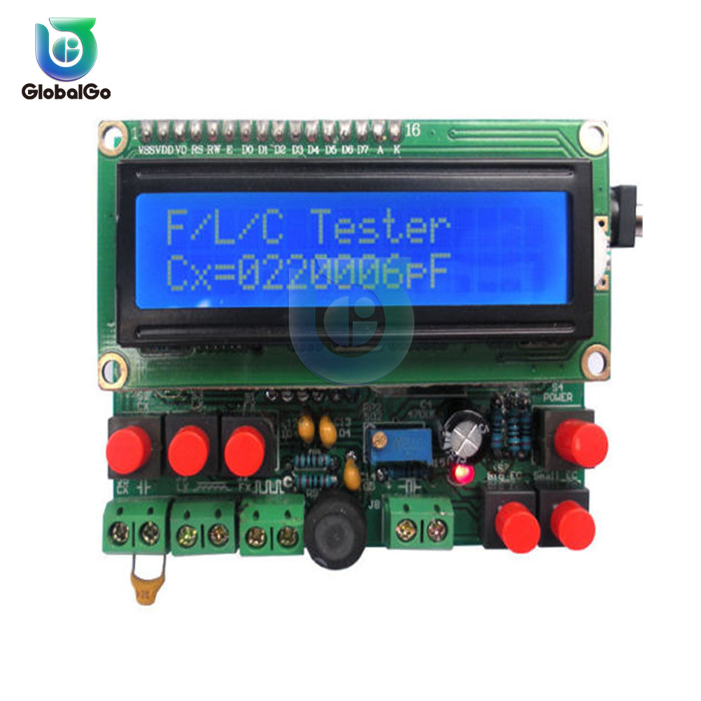 Digital Capacitance Inductance Meter Frequency Meter DIY Capacitance Measuring Tester Tool Capacitance Meter DC 8-14V AC 7