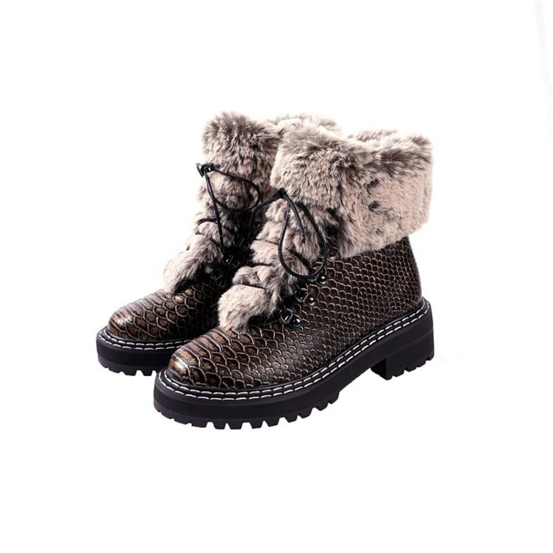 Новые осенние кожаные тонкие туфли феи на толстой подошве Женская нежная обувь с квадратным носком и ремешками - 5