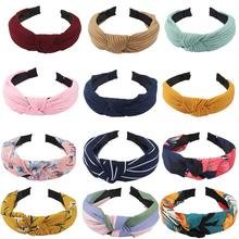 Hair Accessories 12 PCS Hairbands Chiffon Knotted Headbands for Women Hoop Cloth Ties Fashion Band Floral