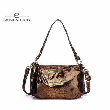 Ancient Bronze Bags Leather Women Shoulder Bags For Ladies With Tassels serpentine Classical Handbags Famous Brand Designs Bags