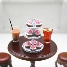 1:12 Dollhouse DIY Miniature Forest Cake Fake Food Cake Toys Decorative Cra/_ma