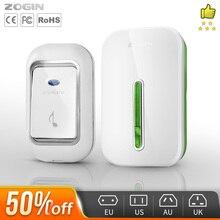 ZOGIN Wireless Doorbell Smart Door Bell Home Waterproof Cordless Ring Dong Chime