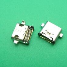 5 adet 50 adet Usb tip C şarj bağlantı noktası jakı Dock soket fişi Lenovo ZUK Z1 Z2 Z2PRO p1C72 P1C58 şarj konnektörü onarım parçaları