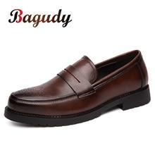 Chaussures en cuir rétro pour hommes, chaussures de fête en cuir de Style Brogue, pour mariage, à la mode, Oxfords chaussures plates pour homme 46, sans lacet