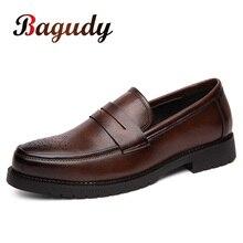 Zapatos de vestir Retro para hombre estilo oxford antideslizantes, calzado Formal de cuero, fiesta, boda
