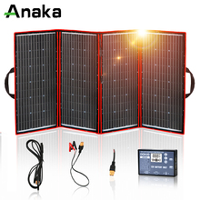 Anaka Panel Solar Flexible para exteriores, 300W, 12V, plegable, para Camping/barco/RV/viajes/coche, kits de panel Solar para el hogar