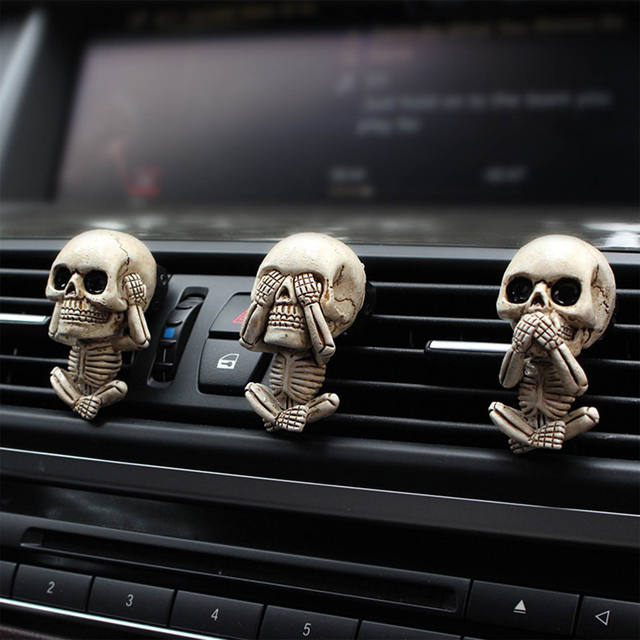 BONE SKULL CAR DI FFUSER VENT CLIP