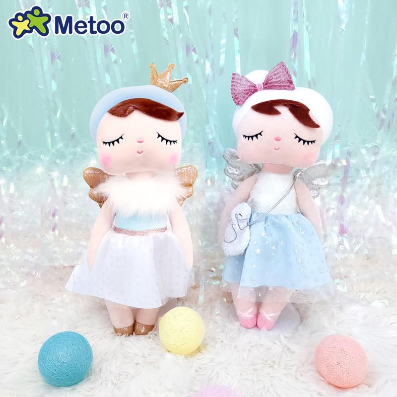Original Metoo Dolls Stuffed Toys For Girl Baby Beautiful Swan Angel Angela Soft Plush Animals For Kids Infant Newest