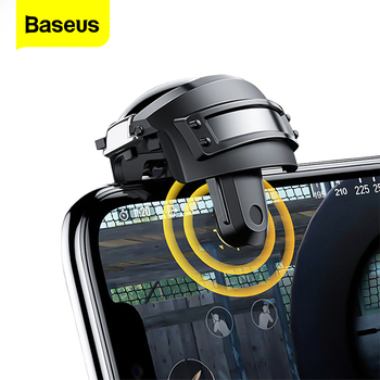 Baseus PUBG Controller Gamepad Joystick For PUBG Fire Button Mobile Phone Gaming Shooter Joypad For iPhone Android PUBG Trigger